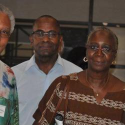 Colloque Aimé Césaire juin 2012, en compagnie de la fille d'Alioune Diop